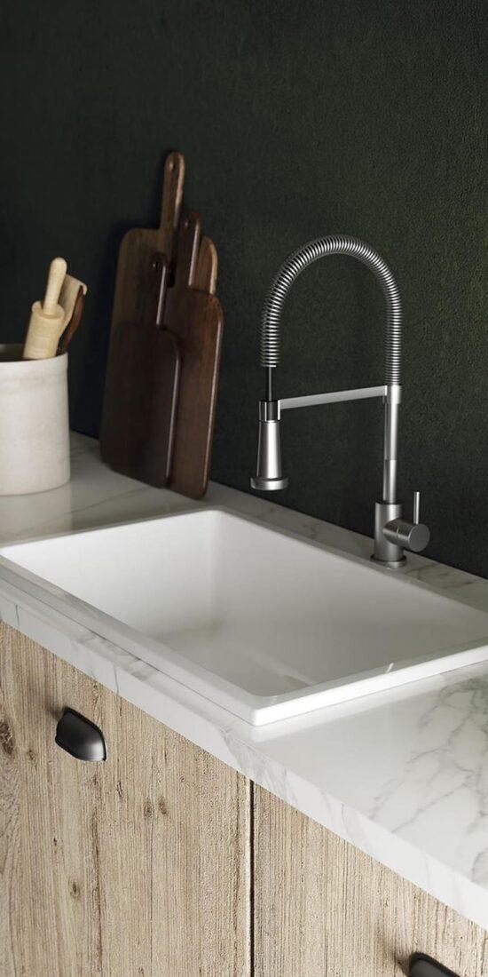 Dual mount sink recessed/ countertop or undermount installation.