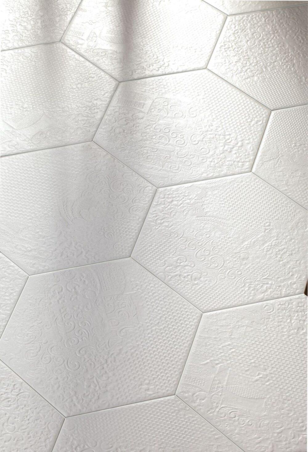 Milano White Hexagon 25x22-0