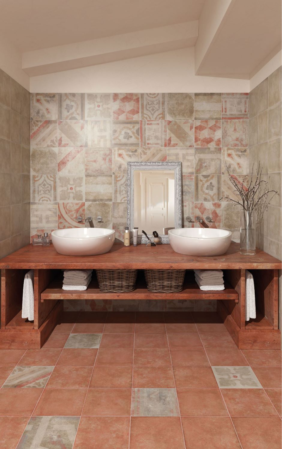 Pompei Antica Bath 25x25-0